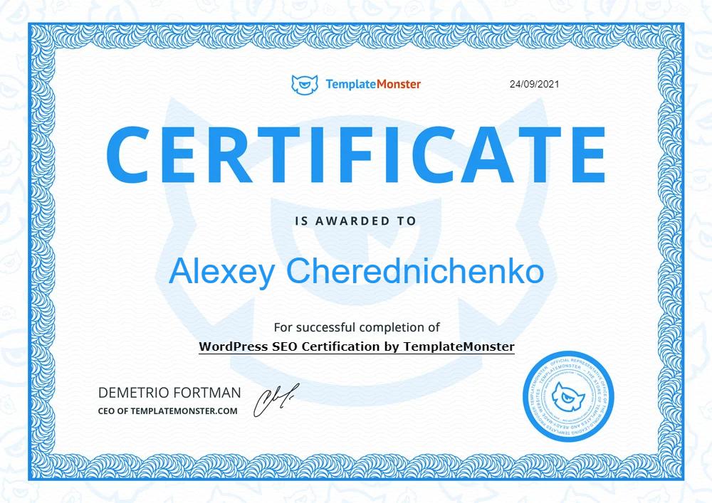 WordPress SEO Certification